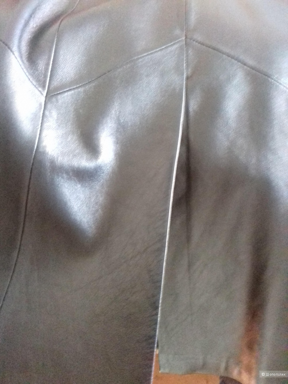 Кожаный плащ, 46 размер