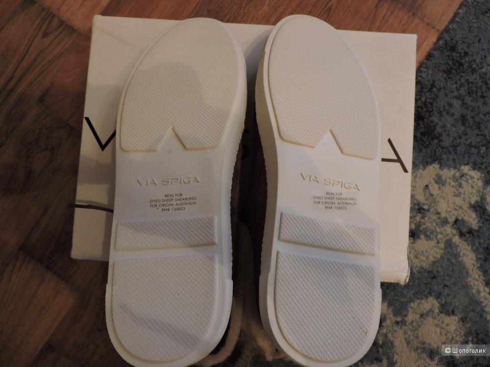 Via spiga ботинки женские 39,5 shoemetro