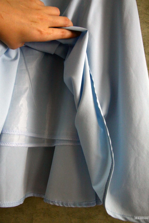 Юбка миди голубая 42/44 S-M