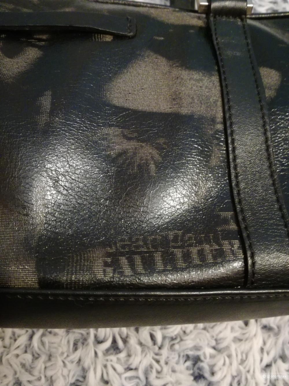 Jean Paul Gaultier Maroquinerie  сумка кожаная 34,5*12,5*5
