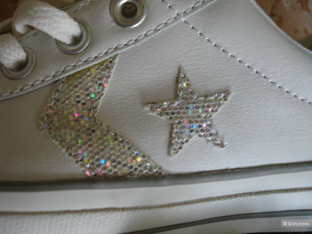 Кеды Converse All star, натуральная кожа, размер EUR38/US7.5/UK5.5, большемерят