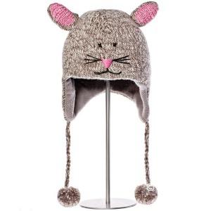 Детская шапочка с варежками примерно на 5-7лет