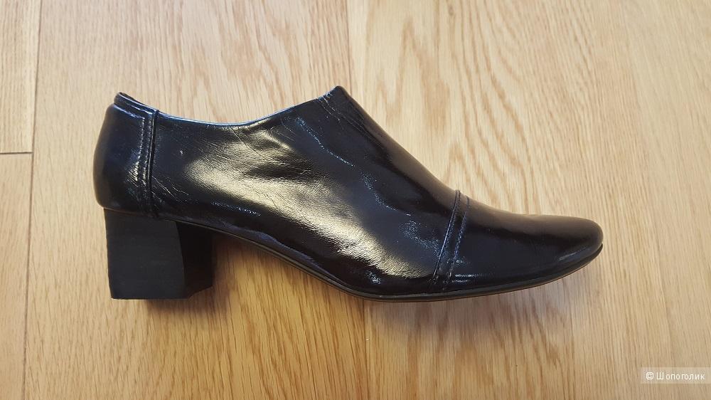 Лаковые туфли из натуральной кожи, размер 40