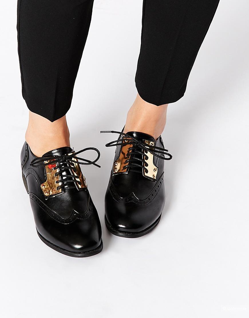 Броги на шнуровке London Rebel размер 40,5.