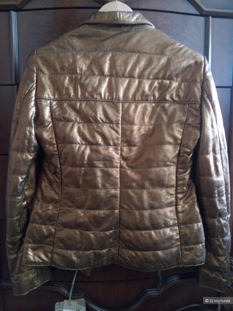 Кожаная куртка Vintage De Luxe р.46-48 .