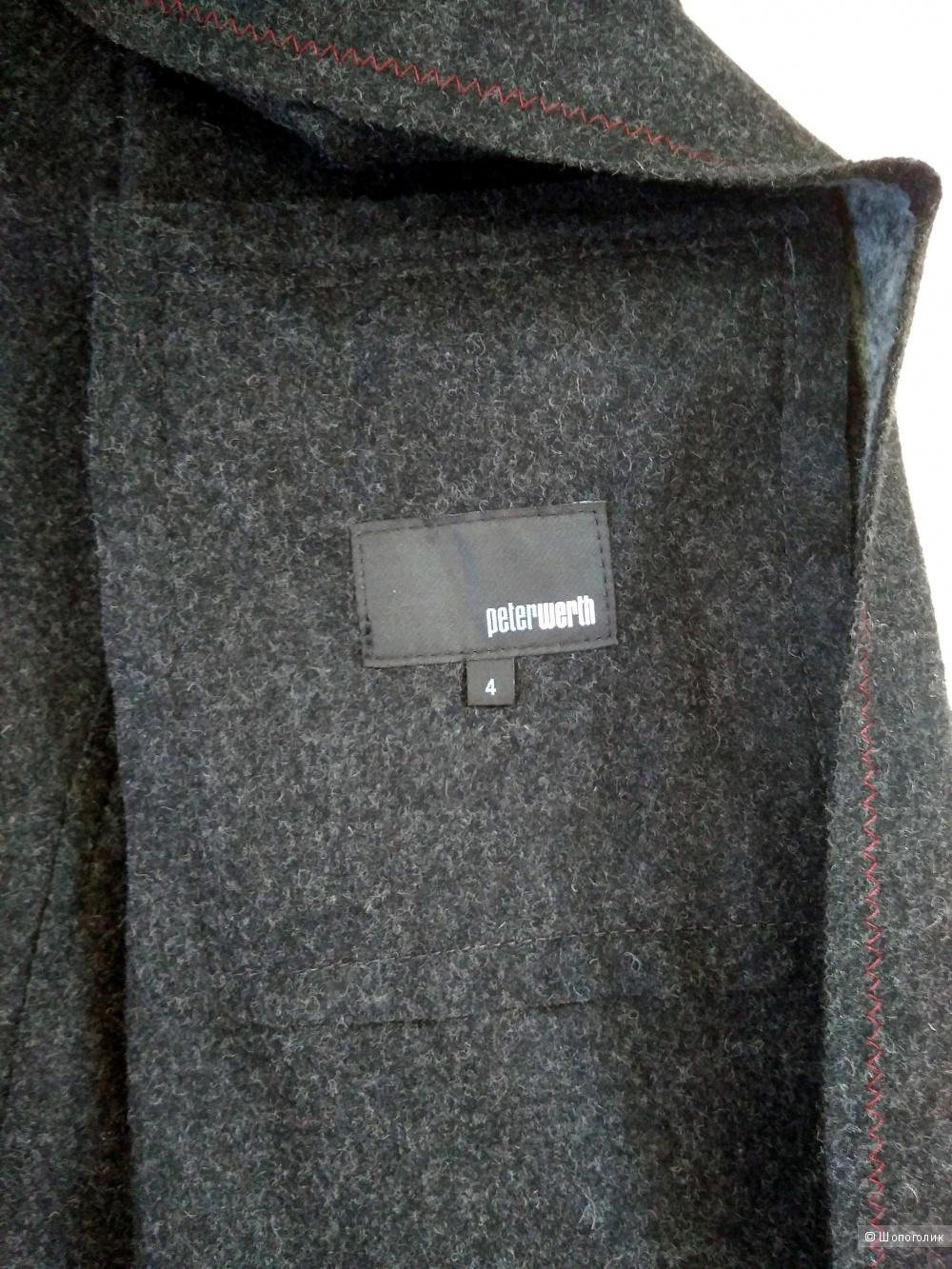 Мужская дизайнерская куртка-полупальто PETER WERTH р52