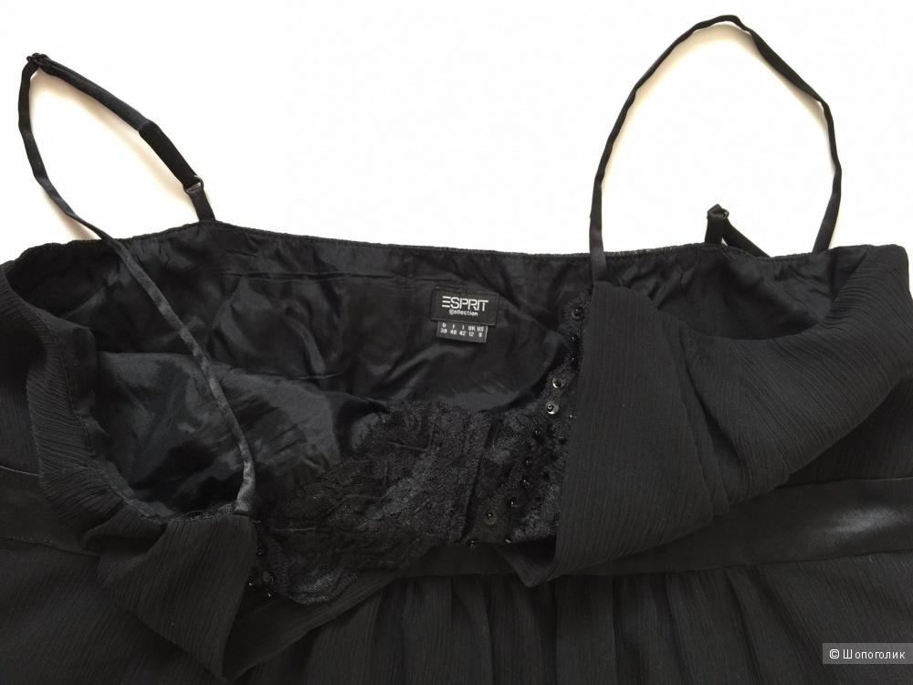 Вечерний черный топ  на бретелях отделка пайетки марки ESPRIT размер 42-44