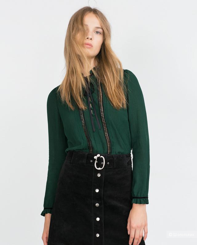 Роскошная блузка  Zara XS