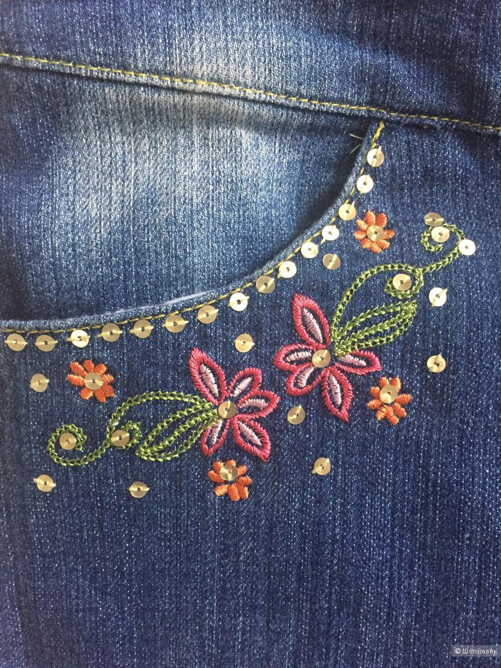 Новые джинсы для девочки ф.Deloras на 122-128