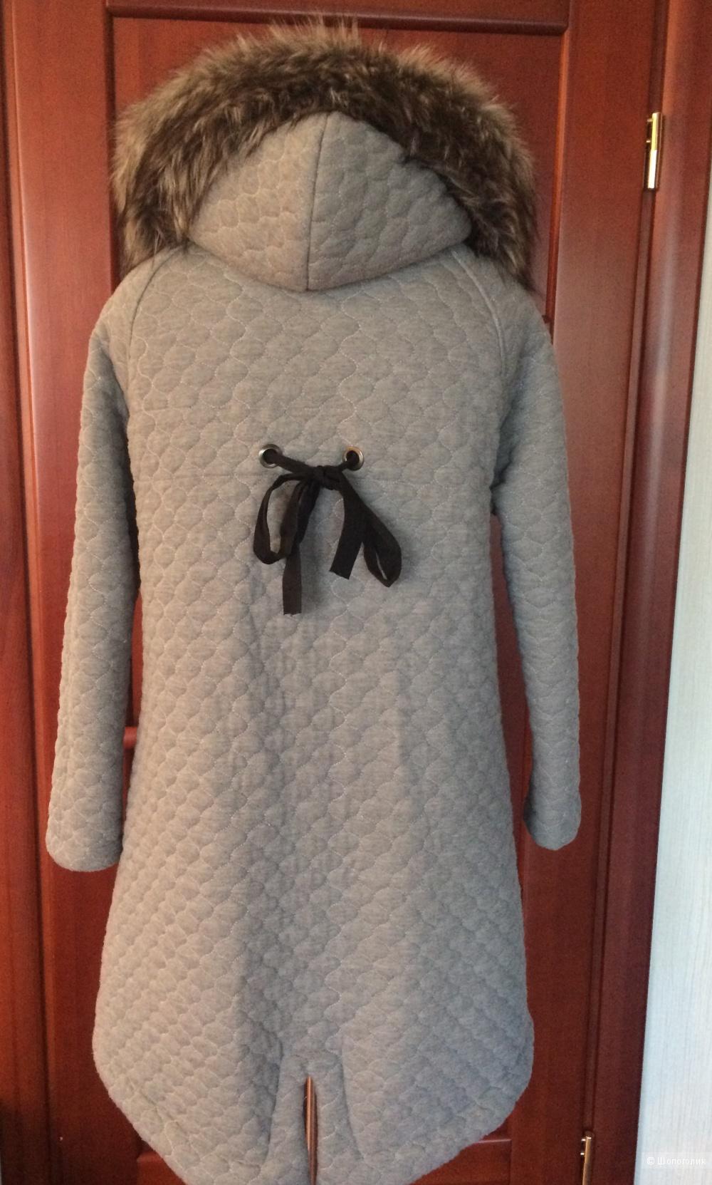 Стёганое трикотажное пальто Bastet, размер S