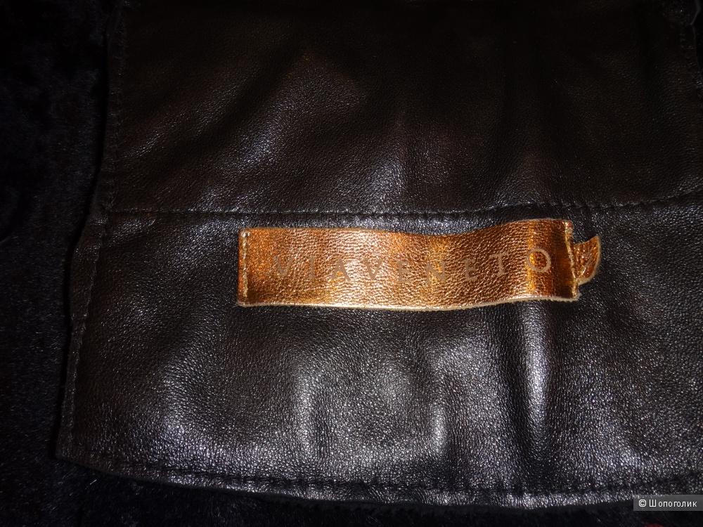 Куртка кожаная 44-46 размер Италия