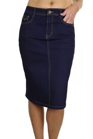 Стильная юбка джинсовая  Zara Woman,  темно синий цвет, 38 размер