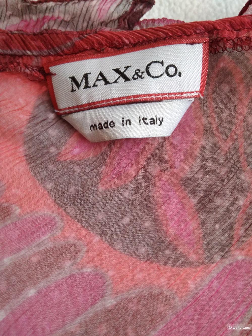 Яркая блузка Max&Co р46-48 100% шелк