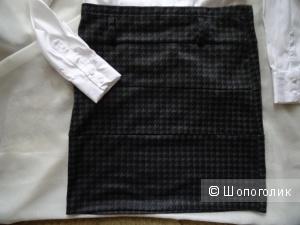"""Короткая юбка """"гусиная лапка"""" CLOCKHOUSE, размер 42-44, б/у"""