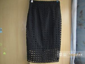 Новая черная юбка-карандаш р.42-44 LIPSY uk 8