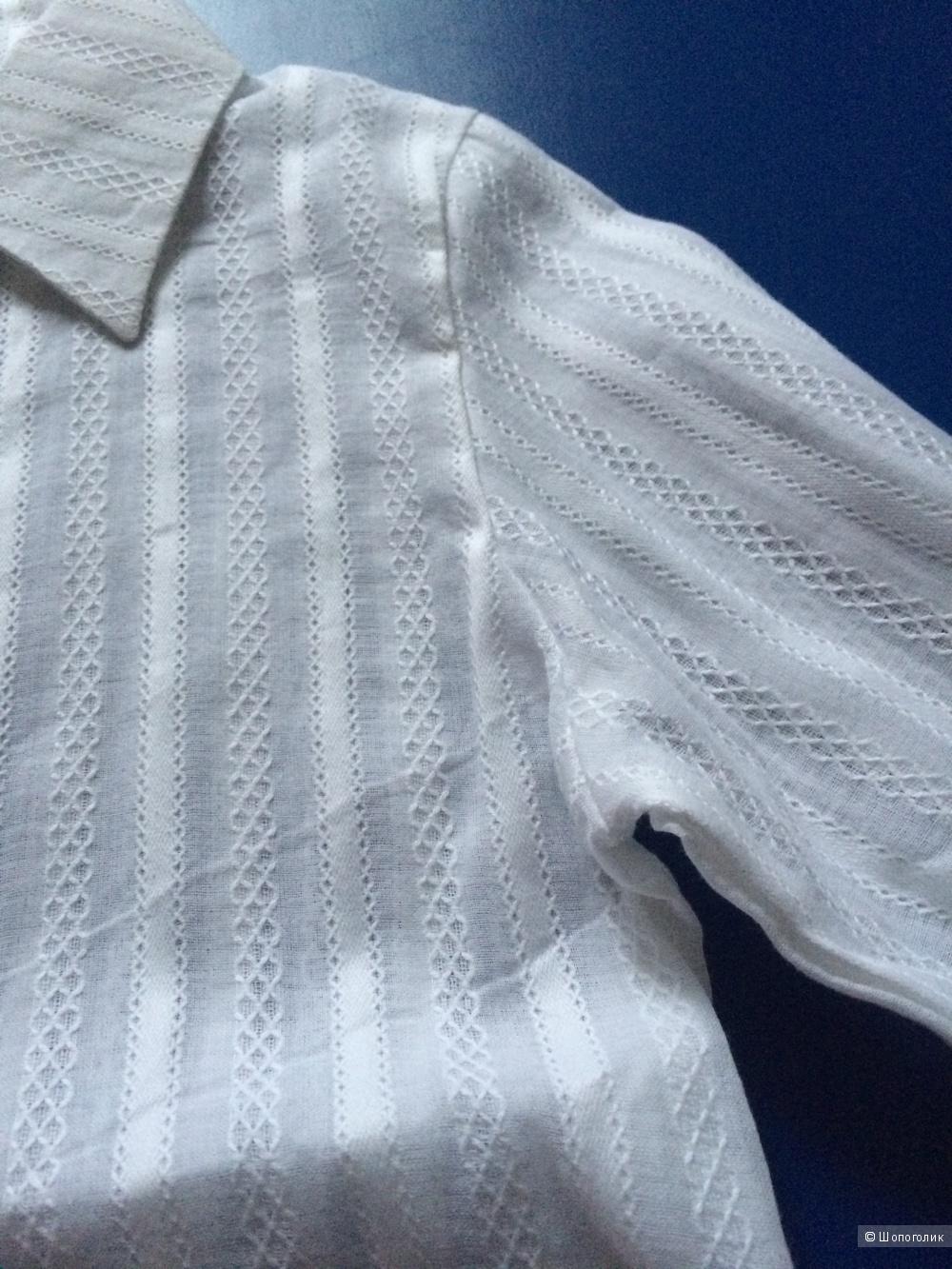 Новая белая блузка для девочки на 122-128