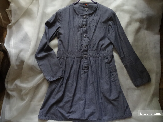 "Хлопковое платье-рубашка ""Brams Paris"", размер 42-44, б/у"