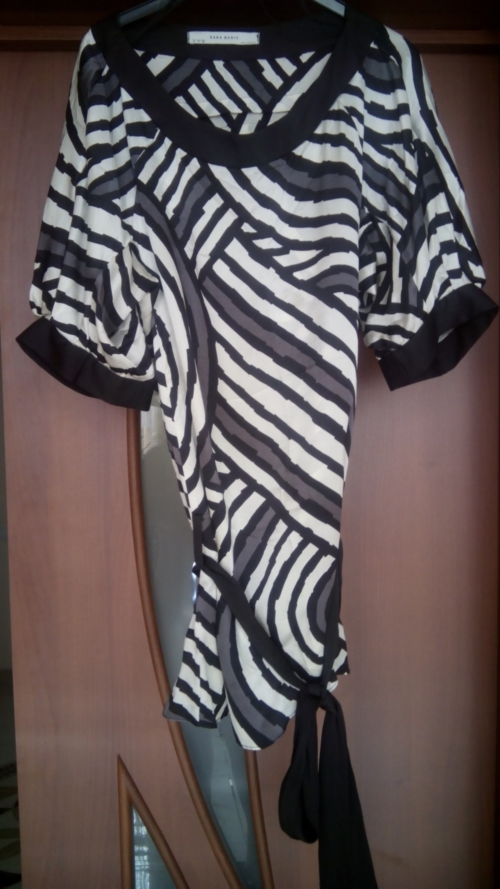Шелковая блуза туника Zara, размер С-М
