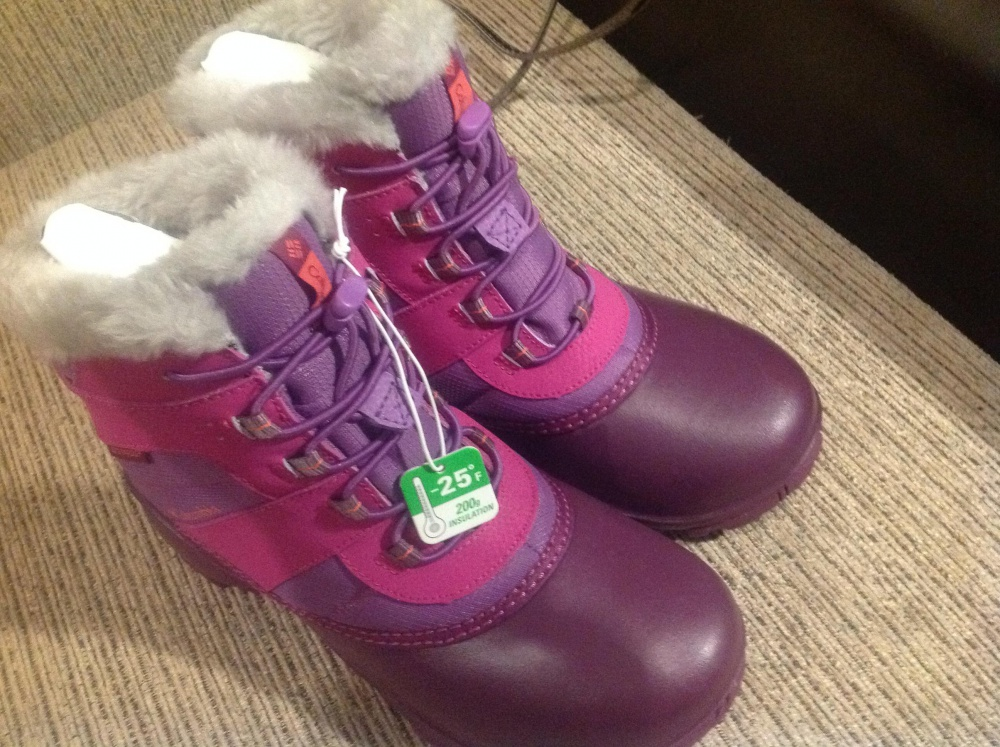 Ботинки зимние Columbia р.амер. 5 новые