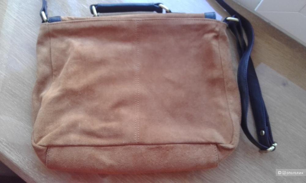 Замшевая сумка-портфель Asos