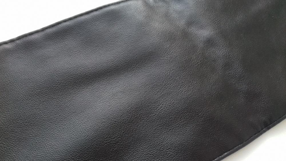 Широкий пояс кушак, черный