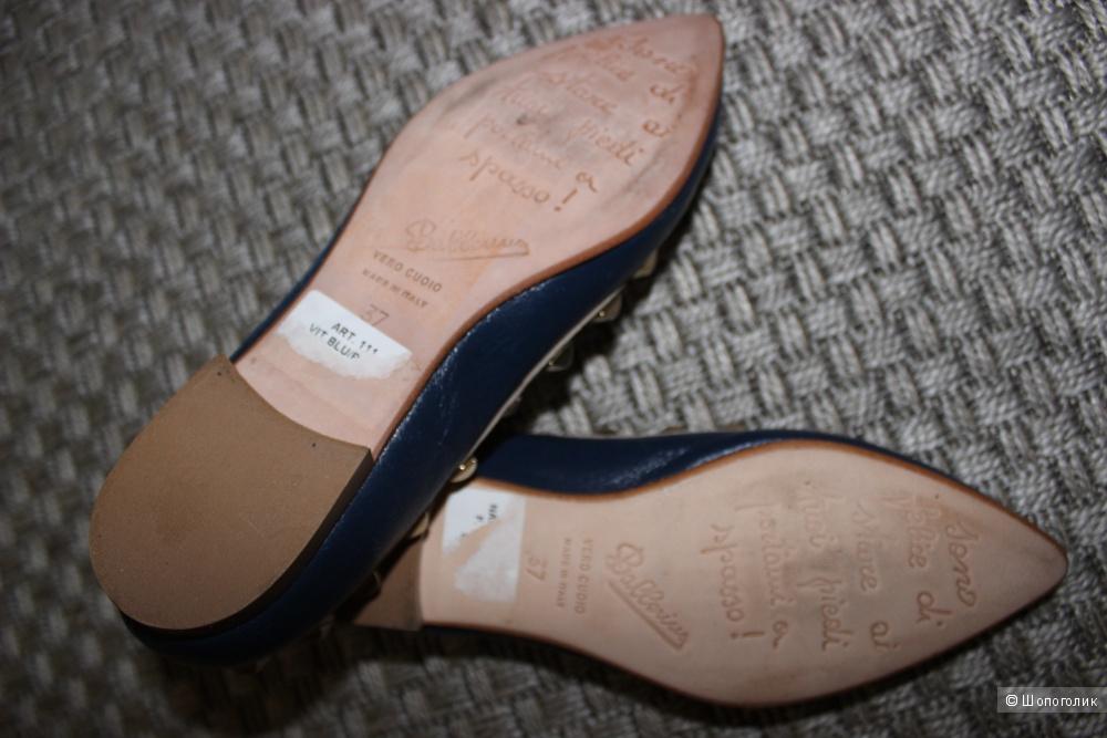 Кожаные балетки BALLERINA made in Italy, размер 37