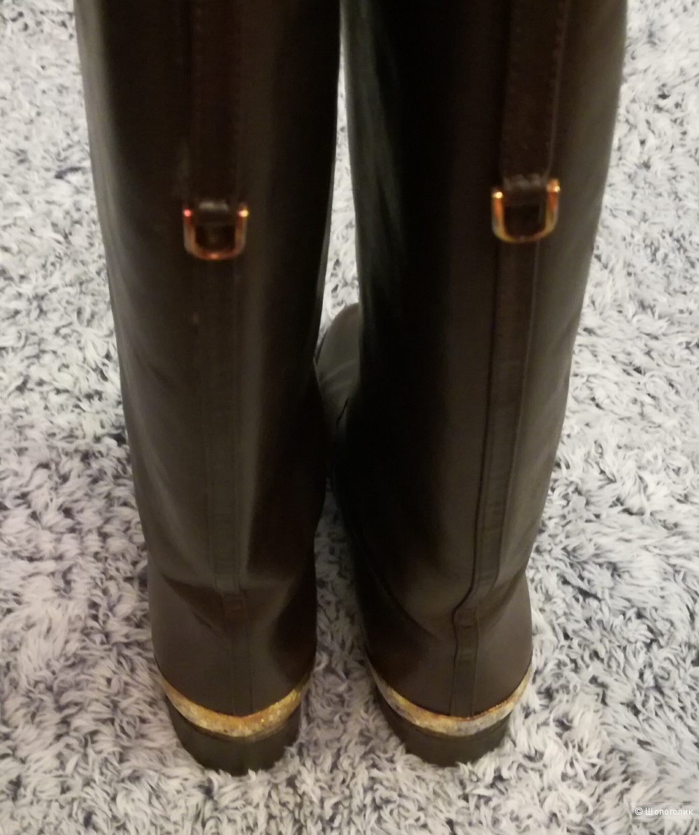 Sergio Rossi сапоги кожаные, демисезонные, 36 размер
