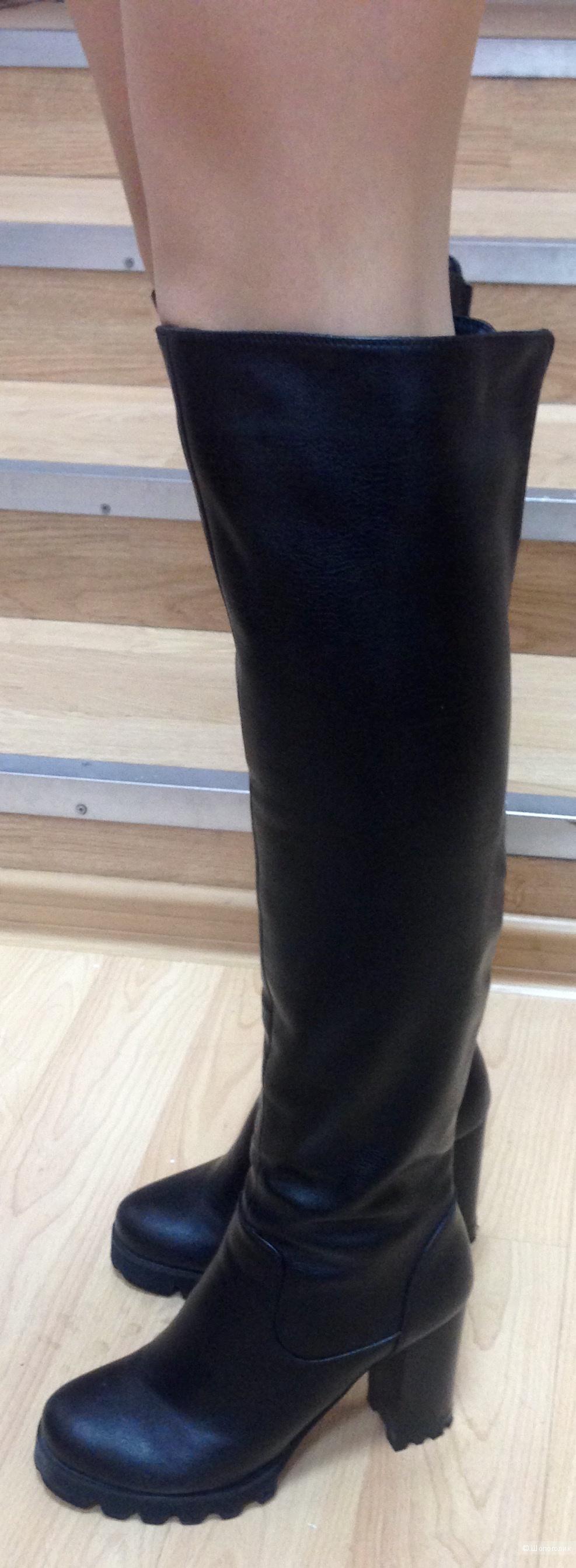 Зимние сапоги, кожа, размер 39