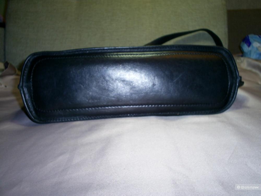 Черная сумка 100%-натуральная кожа The Bridge.