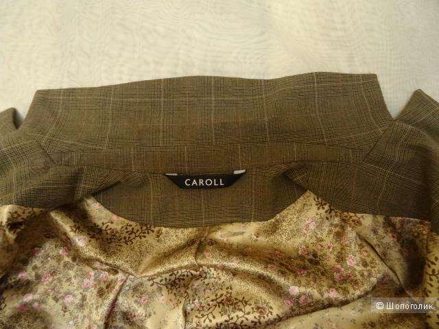"""Пиджак в клетку """"Caroll"""", размер 44, б/у"""