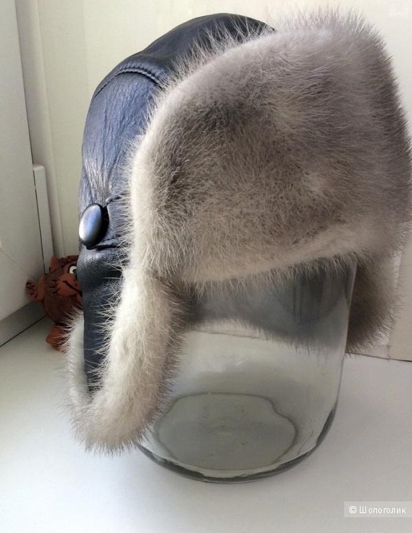Шапка зимняя мини-ушанка, 57 размер.