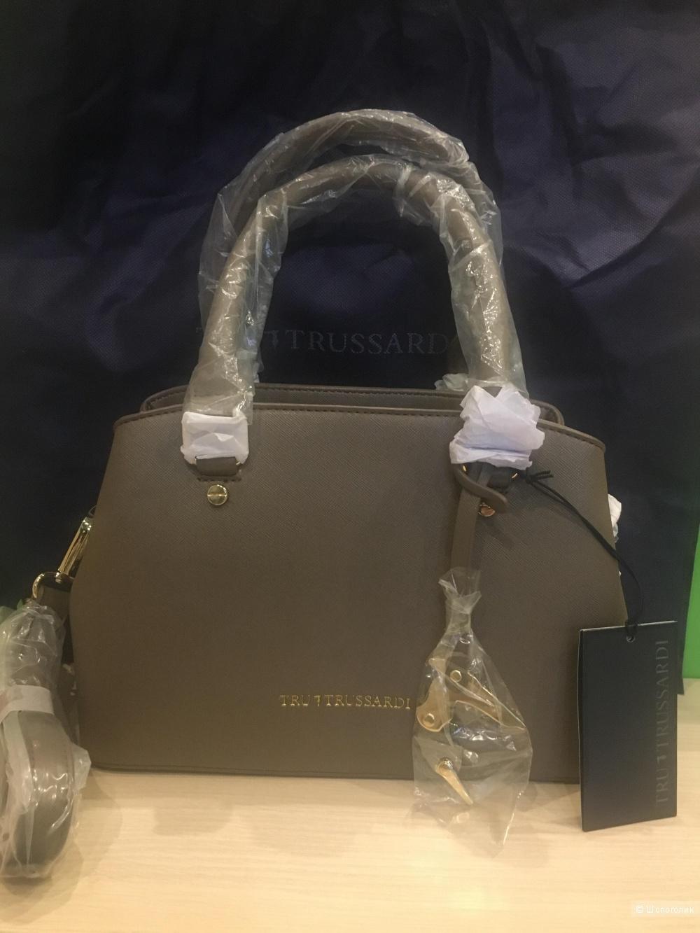 Новая,кожаная сумка TruTrussardi