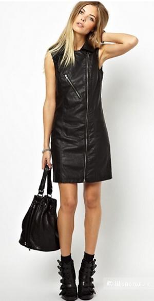 Платье в байкерском стиле из кожезаменителя Noisy May. Размер EU 38 (наш 42-44).