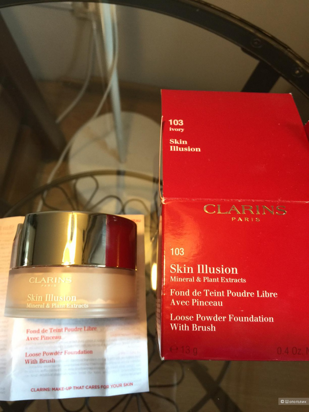 Clarins Skin Illusion Mineral & Plant Extracts Loose Powder Foundation, 103 ivory