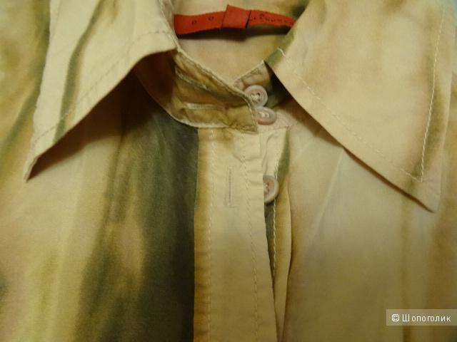"""Шёлковая рубашка """" Donna by Hallhuber"""", размер 42-44, б/у"""