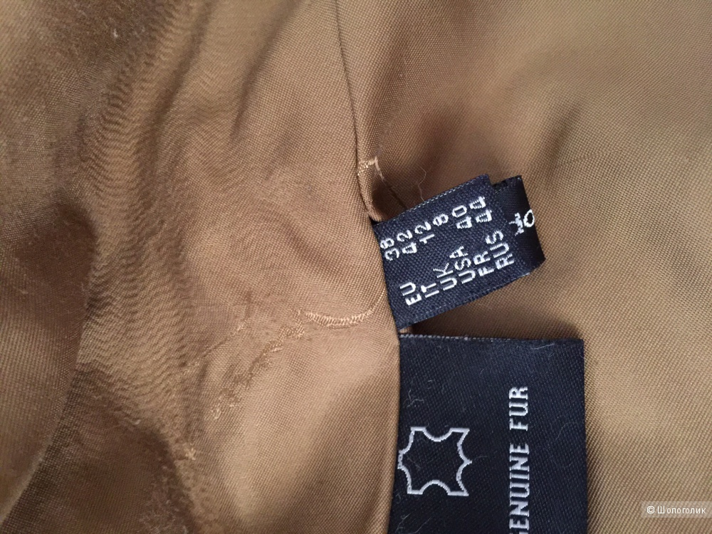 Короткая шуба с капюшоном, натуральная из меха енота марки MARCO CLANOTTI размер M