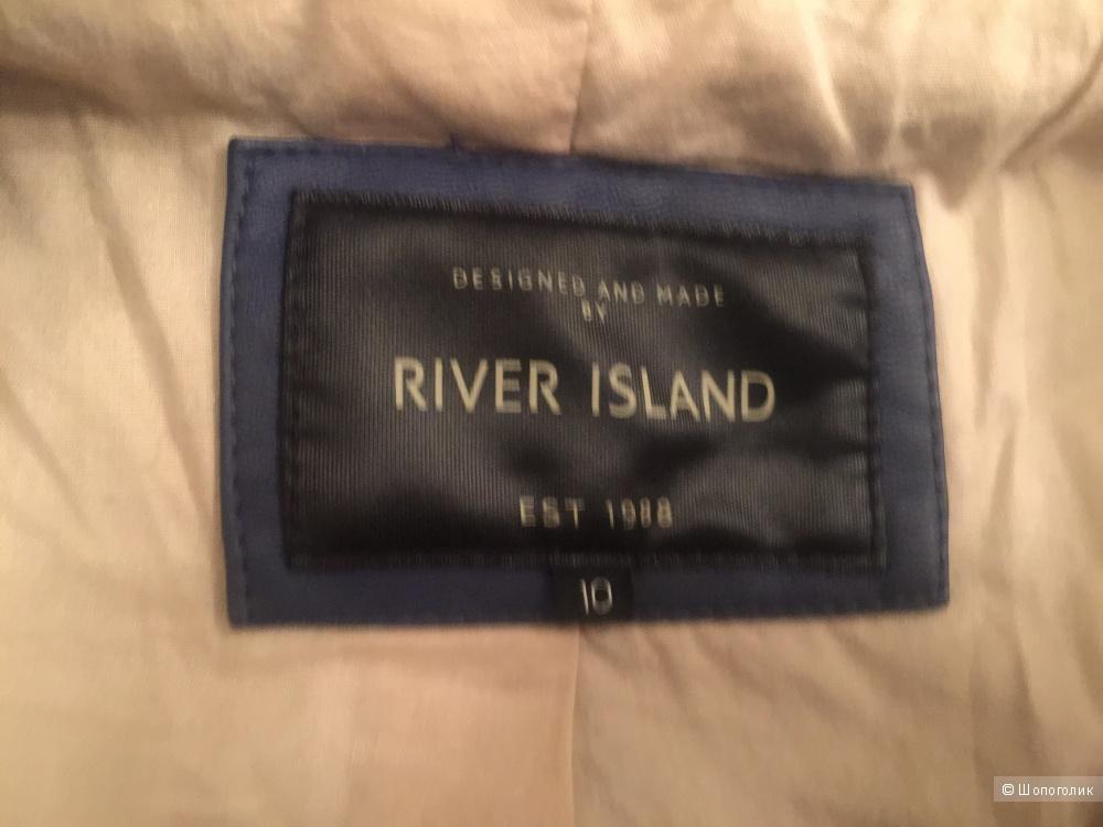 River Island, косуха, размер 36, цвет синий.