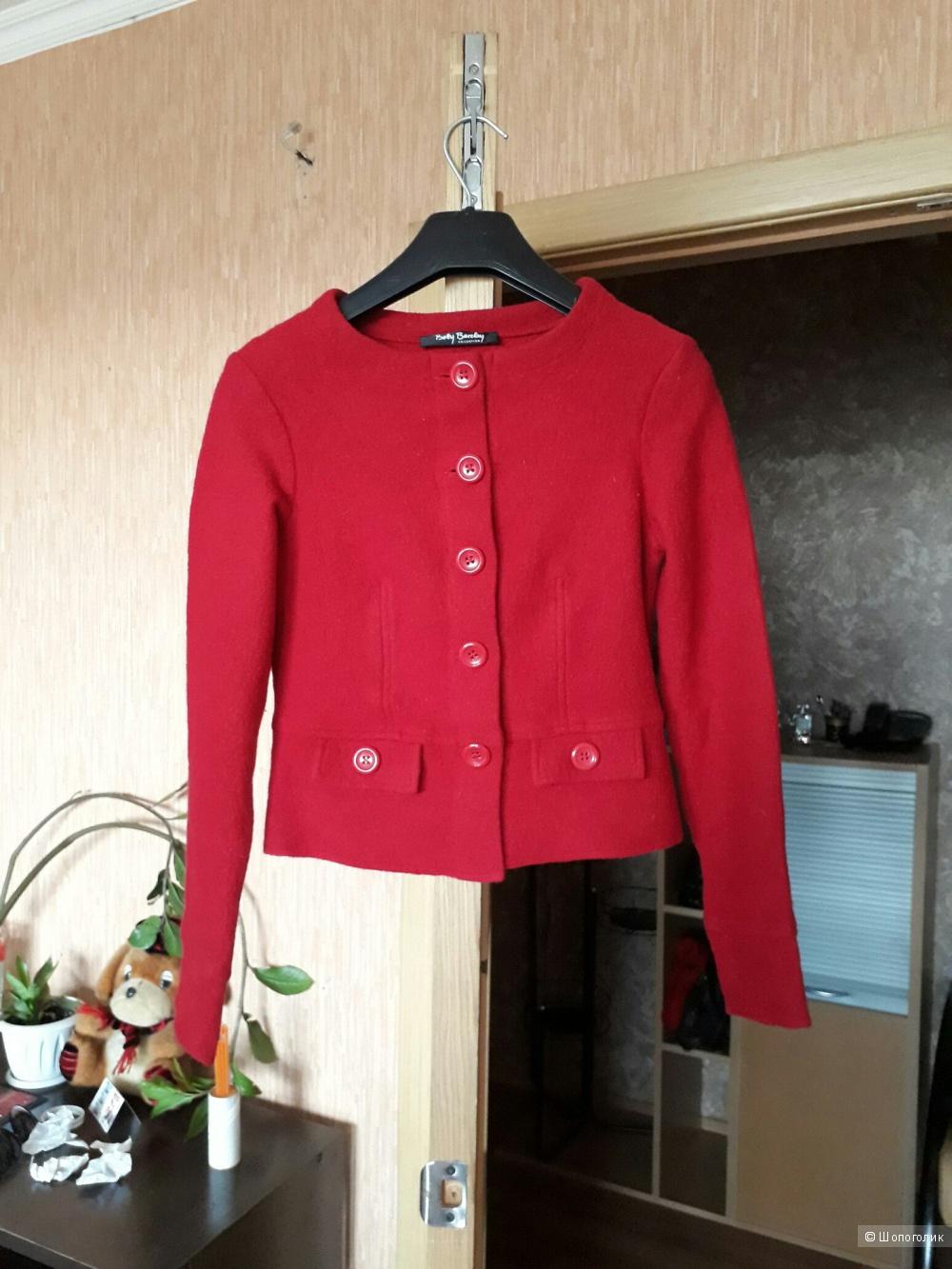 Платье + жакет из плотной шерсти  немецкой марки  Betty Barclay, размер 34-36(европ) на 42-44