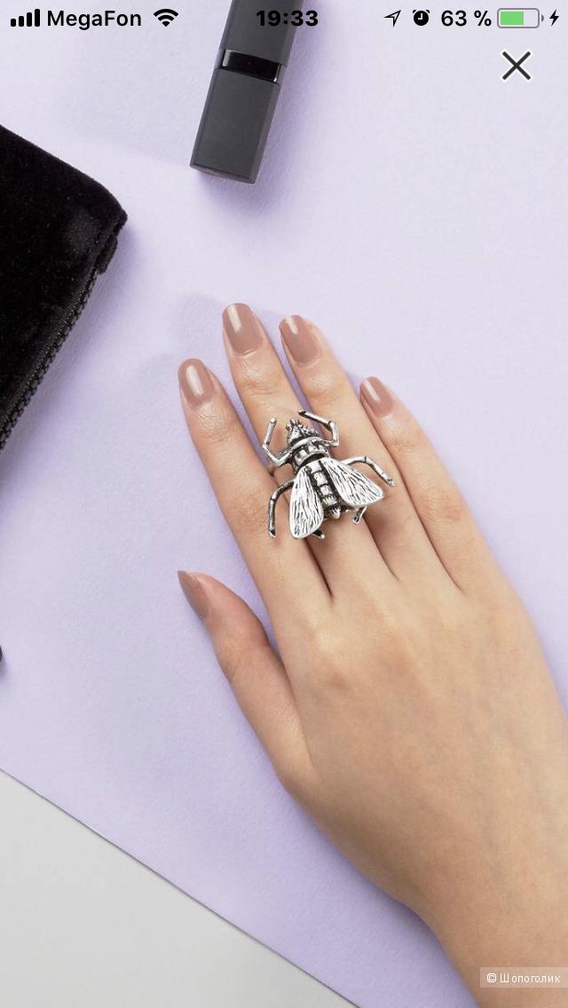 Стильное оригинальное кольцо от Cheap Monday (размер XS/S)