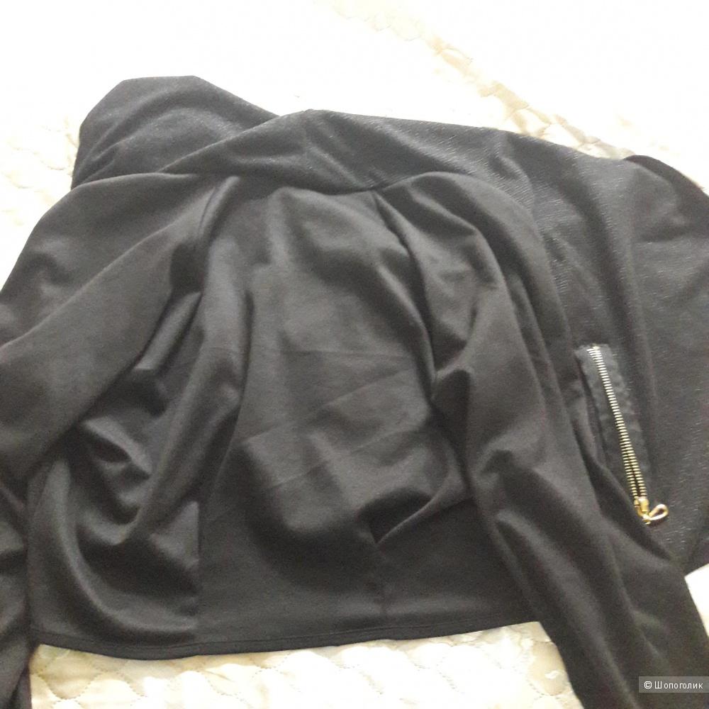 Пиджак кардиган черного цвета размер s-l