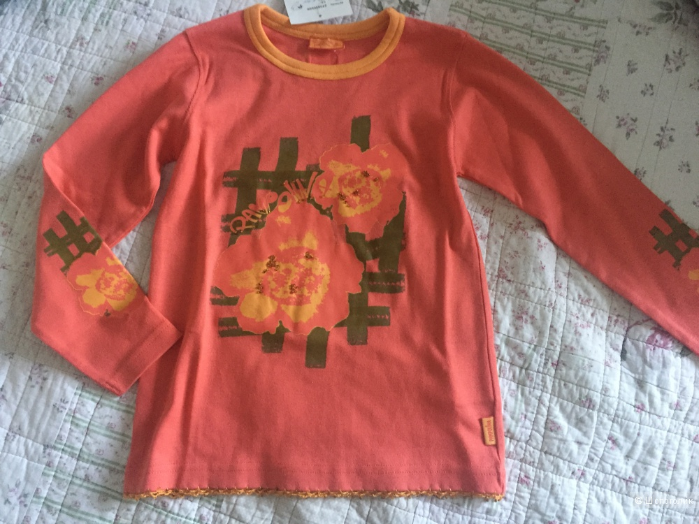 Новая футболка ф.Pampolina с длинными рукавами для девочки 122-128