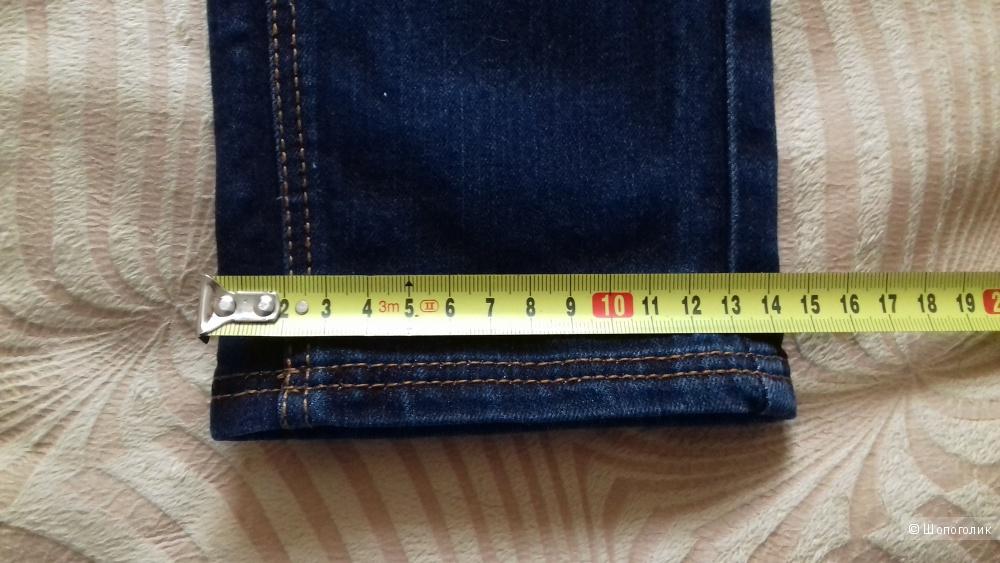 Джинсы Mango, темно-синий (индиго), 38 размер (42/44)