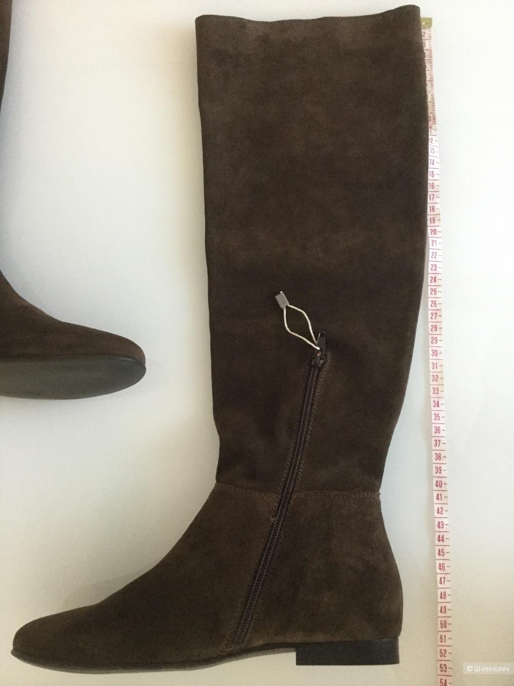 Замшевые сапоги Fabrizio Chini, размер 38