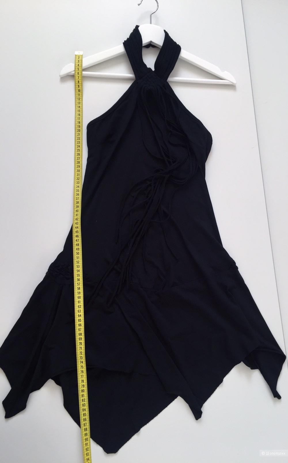 Черное котельное платье Fashion conсept размер 40