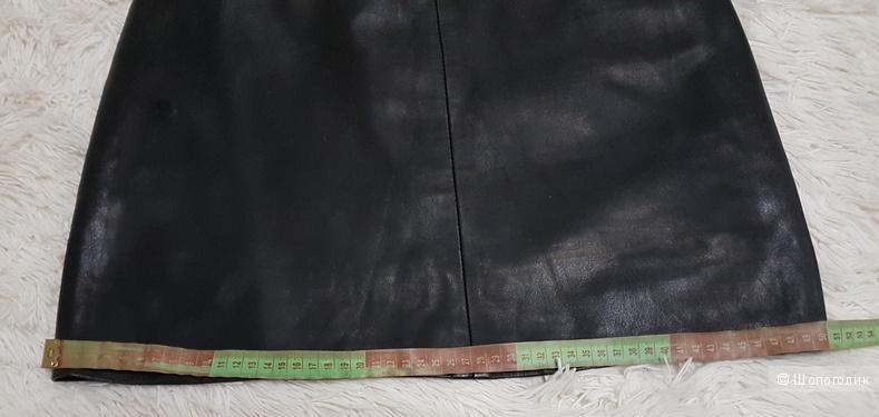 Кожаная юбка, р. М или 44- 46 р.