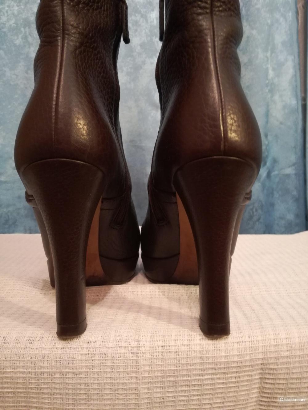 Gucci сапоги кожаные демисезонные 36,5 размер