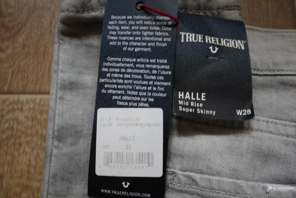 Джинсы true religion, 28 рр  halle mid-rise super skinny