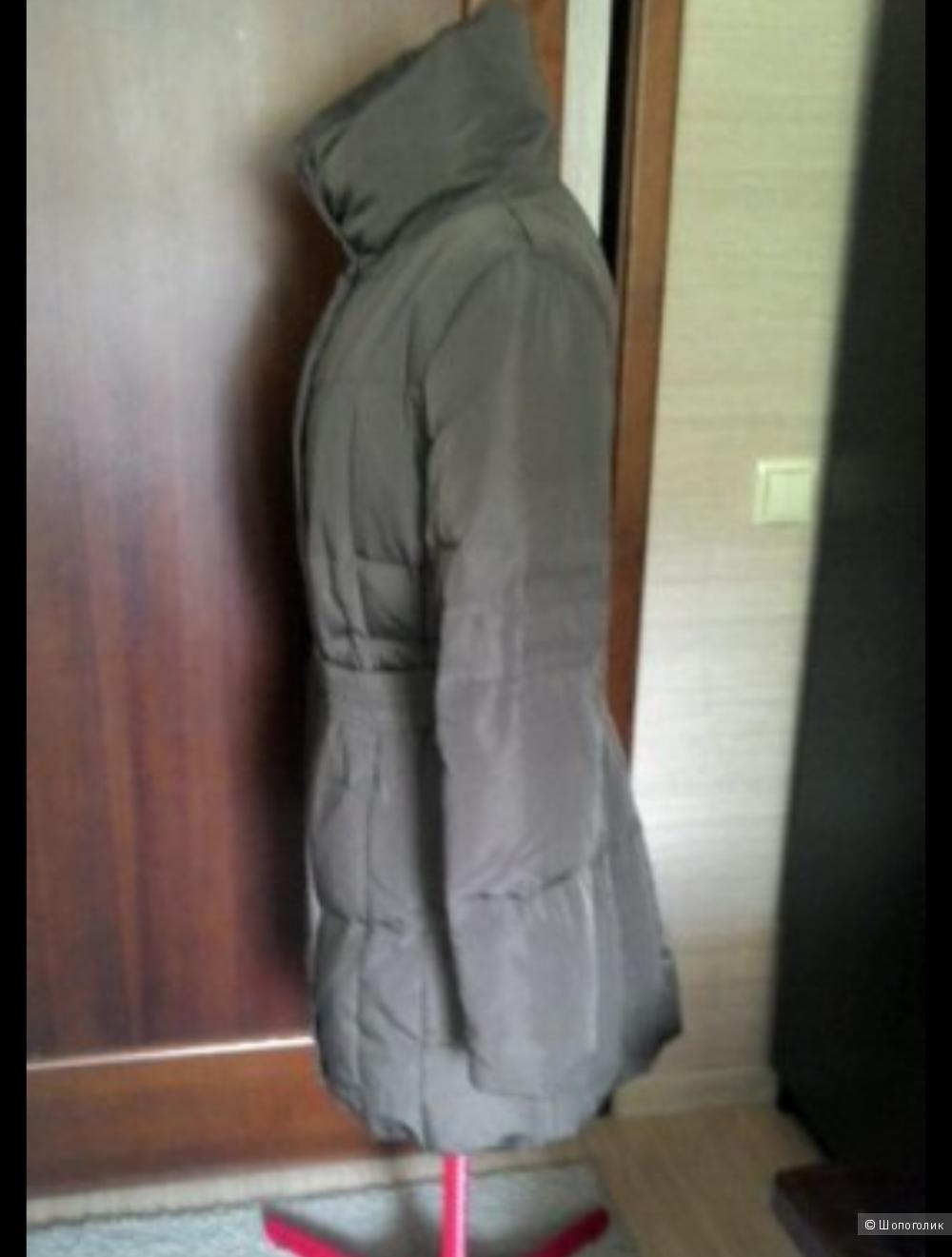 Пуховик женский коричневый  Zara б/у