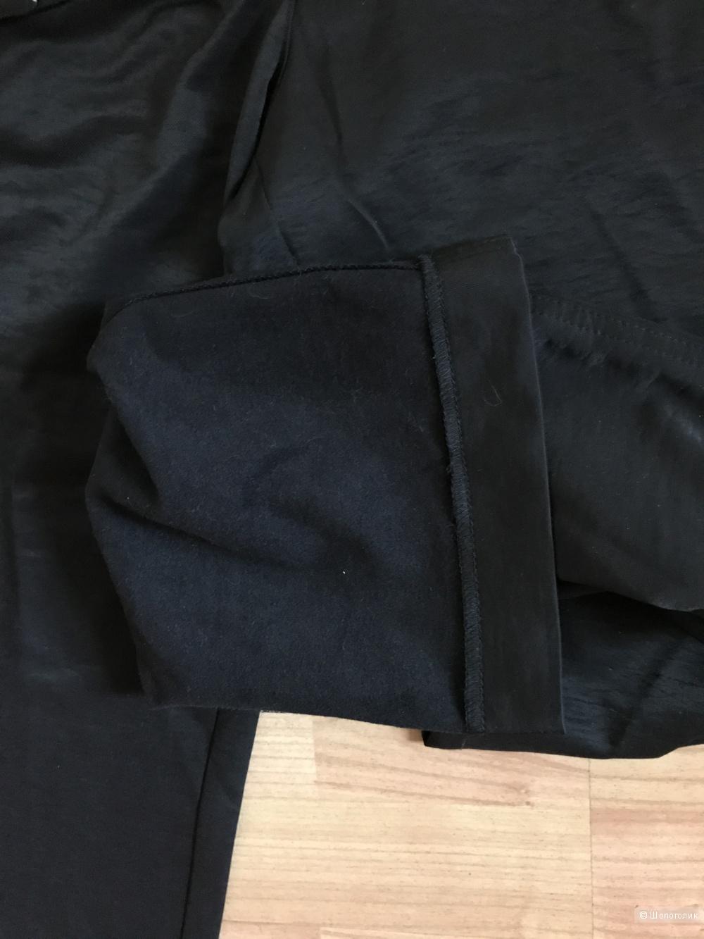 Черные новые утепленные брюки из непромокаемой ткани Mary Fine на 46-48