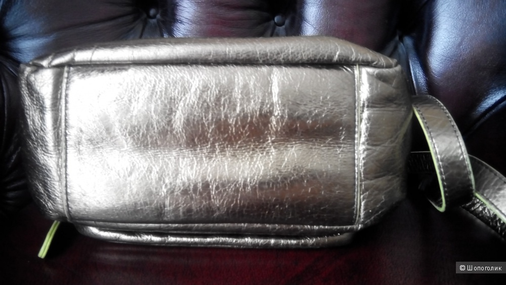 Сумка из натуральной металлизированной кожи Liebeskind Berlin